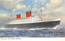 shi062409 - Cunard RMS Queen Elizabeth  Ship Postcard Post Card