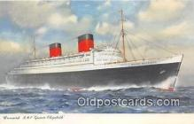 shi062410 - Cunard RMS Queen Elizabeth  Ship Postcard Post Card