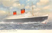 shi062411 - Cunard RMS Queen Elizabeth  Ship Postcard Post Card