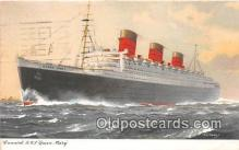 shi062412 - Cunard RMS Queen Mary  Ship Postcard Post Card