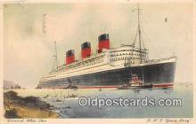 shi062413 - RUMS Queen Mary Cunard White Star Ship Postcard Post Card