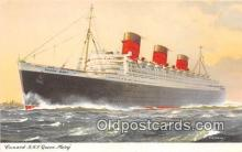 shi062415 - Cunard RMS Queen Mary  Ship Postcard Post Card