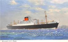 shi062417 - Cunard RMS Media  Ship Postcard Post Card