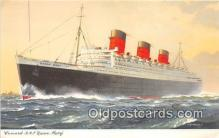 shi062419 - Cunard RMS Queen Mary  Ship Postcard Post Card