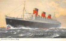 shi062420 - Cunard RMS Queen Mary  Ship Postcard Post Card