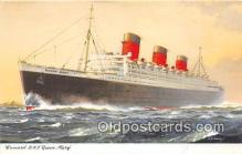 shi062421 - Cunard RMS Queen Mary  Ship Postcard Post Card