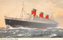 shi062422 - Cunard RMS Queen Mary  Ship Postcard Post Card