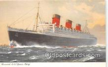 shi062423 - Cunard RMS Queen Mary  Ship Postcard Post Card