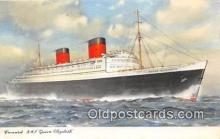 shi062425 - Cunard RMS Queen Elizabeth 1962 Ship Postcard Post Card
