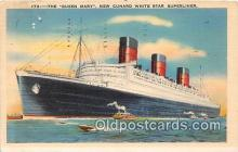 shi062426 - Queen Mary New Cunard White Star Superliner Ship Postcard Post Card