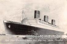 shi062428 - Queen Mary New Cunard White Star Superliner Ship Postcard Post Card