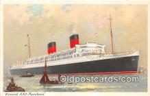 shi062429 - Cunard RMS Mauretania  Ship Postcard Post Card