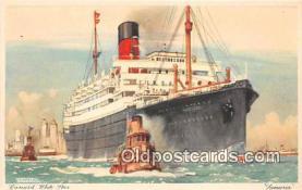 shi062430 - Samaria Cunard White Star Ship Postcard Post Card