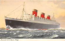 shi062433 - Cunard RMS Queen Mary  Ship Postcard Post Card