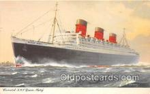 shi062434 - Cunard RMS Queen Mary  Ship Postcard Post Card