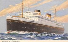 shi062435 - Cunard MV Britannic  Ship Postcard Post Card