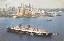 shi062436 - Cunard RMS Queen Elizabeth  Ship Postcard Post Card