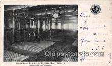 shi062440 - Social Hall, C & B Line Steamer Cleveland & Buffalo Ship Postcard Post Card