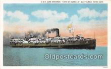 shi062441 - C & B Line Steamer City of Buffalo, Cleveland Ship Postcard Post Card