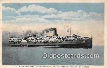 shi062442 - C & B Line Steamer City of Buffalo, Cleveland Ship Postcard Post Card