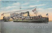 shi062444 - C & B Line City of Buffalo, Cleveland Ship Postcard Post Card