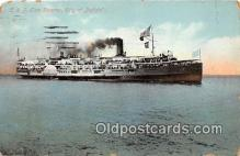 shi062445 - C & B Line Steamer City of Buffalo, Cleveland Ship Postcard Post Card