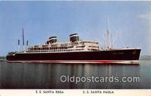 shi062447 - SS Santa Rosa, SS Santa Paula Grace Line Ship Postcard Post Card