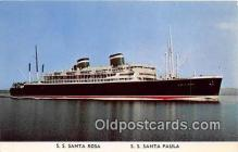 shi062448 - SS Santa Rosa, SS Santa Paula Grace Line Ship Postcard Post Card