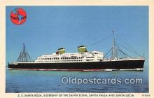 shi062456 - SS Santa Rosa, SS Santa Paula Caribbean South American Cruises Ship Postcard Post Card