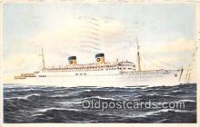 shi062460 - SS Homeric Home Lines Ship Postcard Post Card