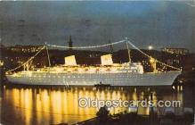 shi062466 - MS Gripsholm Swedish American Line Ship Postcard Post Card