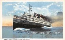 shi062474 - New D & C Steamer City of Cleveland Detroit, Michigan Ship Postcard Post Card