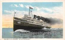 shi062475 - New D & C Steamer City of Cleveland Detroit, Michigan Ship Postcard Post Card
