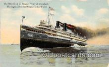 shi062479 - New D & C Steamer City of Cleveland  Ship Postcard Post Card