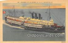 shi062480 - Steamer City of Detroit III D & C Navigation Company Ship Postcard Post Card
