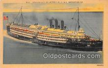 shi062481 - Steamer City of Detroit III D & C Navigation Company Ship Postcard Post Card