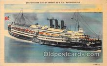 shi062482 - Steamer City of Detroit III D & C Navigation Company Ship Postcard Post Card