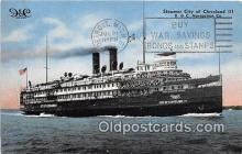 shi062484 - Steamer City of Cleveland D & C Navigation Company Ship Postcard Post Card