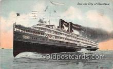 shi062486 - Steamer City of Cleveland  Ship Postcard Post Card