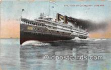 shi062487 - Str City of Cleveland Lake Erie Ship Postcard Post Card