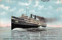 shi062488 - Steamer City of Cleveland D & C Line Ship Postcard Post Card