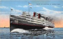 shi062489 - City of Cleveland III Detroit, Michigan Ship Postcard Post Card