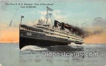 shi062493 - New D & C Steamer City of Cleveland  Ship Postcard Post Card