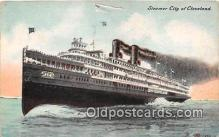 shi062494 - Steamer City of Cleveland  Ship Postcard Post Card