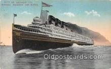 shi062496 - City of Detroit III Cleveland & Buffalo Ship Postcard Post Card