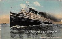 shi062497 - Steamer City of Detroit III Detroit & Buffalo Ship Postcard Post Card