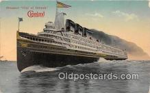 shi062498 - Steamer City of Detroit  Ship Postcard Post Card