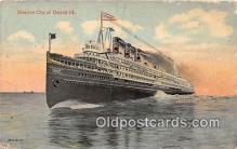 shi062500 - Steamer City of Detroit III  Ship Postcard Post Card