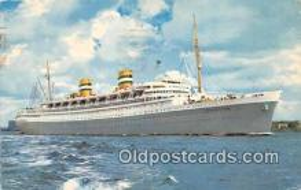 shi062507 - SS Nieuw Amsterdam Holland America Line Ship Postcard Post Card
