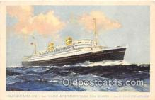 shi062508 - TSS Nieuw Amsterdam Holland America Line Ship Postcard Post Card